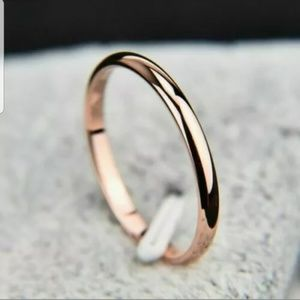 Women Rose Gold thin stainless steel band